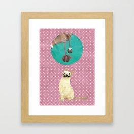 Woolly mind handcut collage Framed Art Print