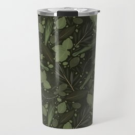 Green Herbs Spices / Olive Green Palette Travel Mug