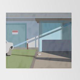 the garage Throw Blanket