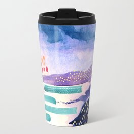 Balmaha Scottish Colourful Watercolour Painting Travel Mug