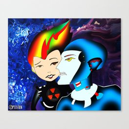 My Radioactive Valentine Canvas Print