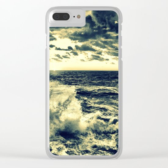 water : Crashing Waves Clear iPhone Case