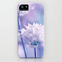 Allium blue macro 038 iPhone Case