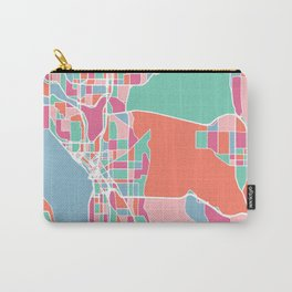 Seattle City Map Carry-All Pouch