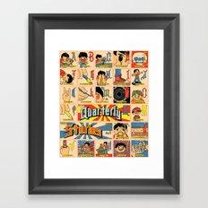 Odd Alphabet Chart Framed Art Print