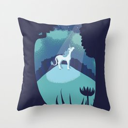 Moonlit Clearing Throw Pillow