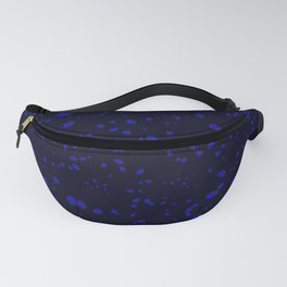 Gray drops and petals on a white background in nacre. Fanny Pack