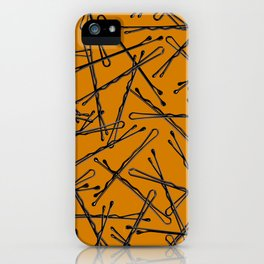 Bobby Pins Scattered iPhone Case