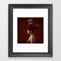 Sailing - Red Framed Art Print