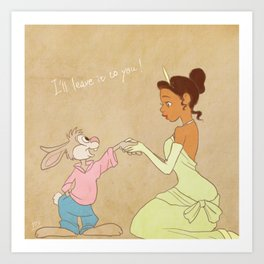 I'll leave it to you Art Print