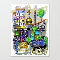vienna Canvas Prints featuring Vienna  by Aleksandra Jevtovic