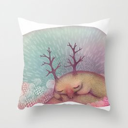 Deep Winter Dreaming (With Eyes Closed) Throw Pillow