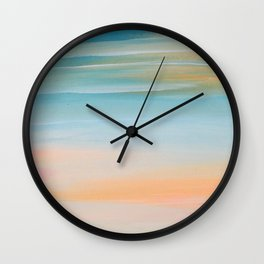Fresh Colors Painterly Abstract Wall Clock