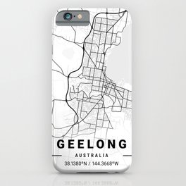 Geelong Light City Map iPhone Case