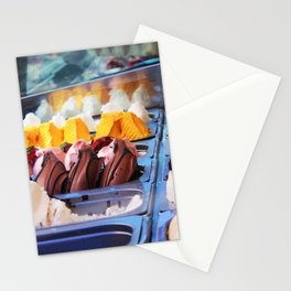 Gelato Rainbow in Little Italy NYC Stationery Cards