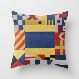 Nautical Signal Flag D Throw Pillow