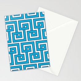 Greek Key - Turquoise Stationery Cards