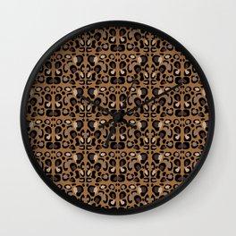 Leopard Suede Wall Clock