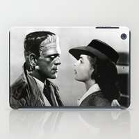 casablanca iPad Cases featuring FRANKENSTEIN IN CASABLANCA by Luigi Tarini