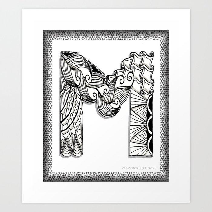 Monogram Metal Wall Art