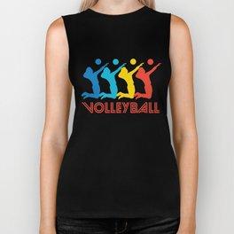 Volleyball Player Retro Pop Art Graphic Biker Tank