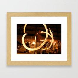 Fire Dancer Dame St Dublin Framed Art Print