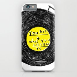 you are what you listen to, YELLOW iPhone Case