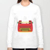 typewriter Long Sleeve T-shirts featuring Typewriter by EinarOux