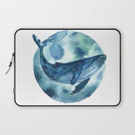 blue moon whale Laptop Sleeve
