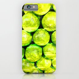 Bright Green Lime Pattern - For Fruit Lovers iPhone Case