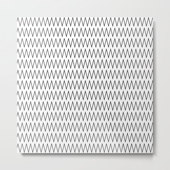 Minimalist Chevron Metal Print
