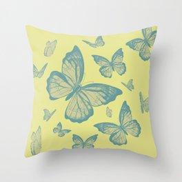 Dry Butterflies Throw Pillow