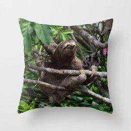 Sloth_20171106_by_JAMFoto Throw Pillow