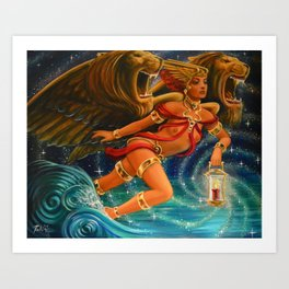 "Live Painting: ""Illumination of the Roaring Sea"" Art Print"