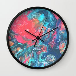 Bright and Colourful Marble Wall Clock