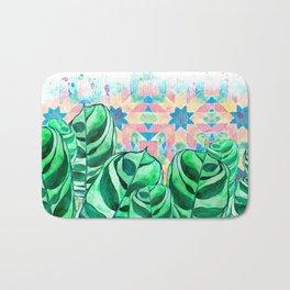 Plants and Tiles Bath Mat