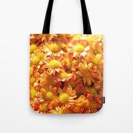 Fall Flowers - Orange Mums Tote Bag