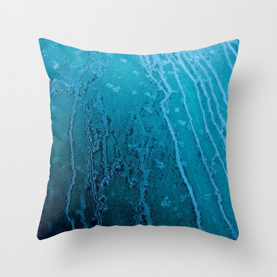 Frozen Lines Throw Pillow
