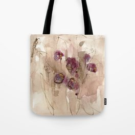Vibrations - Abstract Flowers Tote Bag