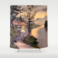 "asian Shower Curtains featuring "" ASIAN DREAM "" by James Dunlap"