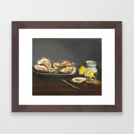 Oysters by Edouard Manet, 1862 Framed Art Print