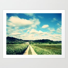 a beautiful day Art Print