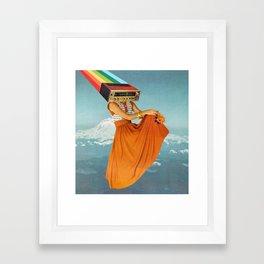 Octave Orange Framed Art Print