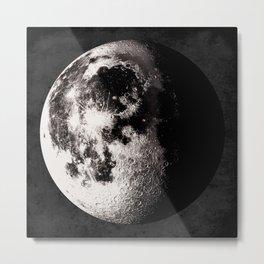 Gibbous Moon Poster, Moon Art Print, Square Moon Print, Wall Art, Home Decor, Luna Poster, Moon Print, Lunar Moon Print, Luna Moon, Waning Gibbous Moon, Black and White, Gibbous Moon Art Print, Moon Phase Metal Print
