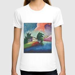 Tuscany, Italy rolling hills and vineyards landscape painting by Ilya Mashkov T-shirt