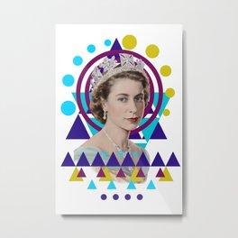 Geometric Monarchy Metal Print