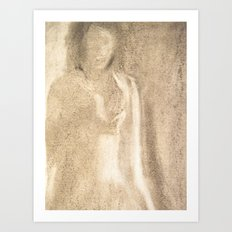 The Lady in Grey Art Print