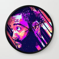 nba Wall Clocks featuring James harden nba illu v3 by mergedvisible