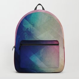 Vivid - Colorful Geometric Mountains Texture Pattern Backpack