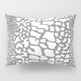 ANIMAL PRINT SNAKE SKIN GRAY AND WHITE PATTERN Pillow Sham